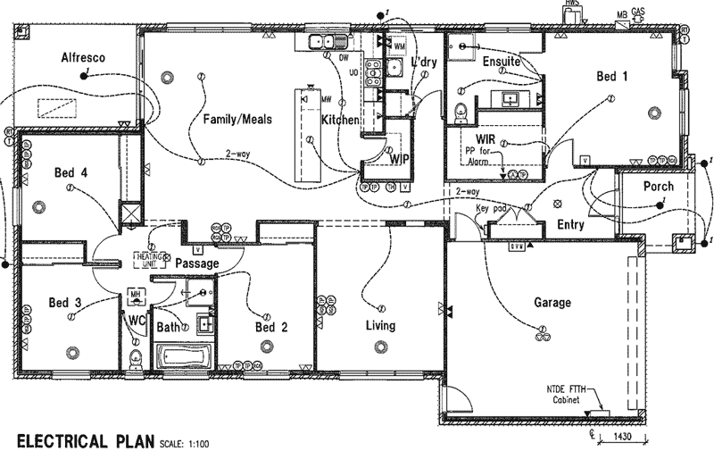28 electrical plan black and white electrical plan for House electrical design