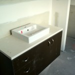Ensuite vanity and basin
